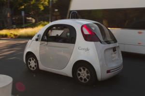 Picture of a autonomous car